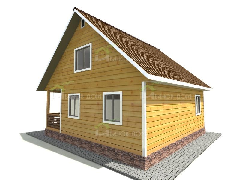 Дома из бруса под ключ недорого  строительство домов из